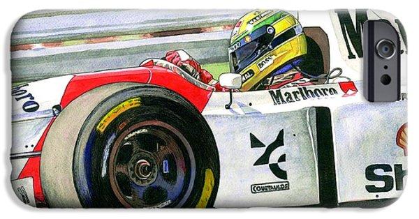 Ayrton Senna iPhone Cases - Ayrton iPhone Case by Leonardo Baigorria