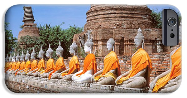 Buddhism iPhone Cases - Ayutthaya Thailand iPhone Case by Panoramic Images