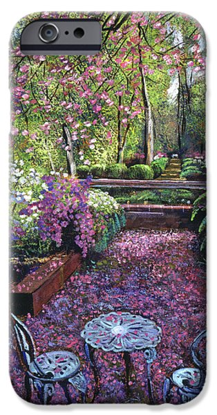 Formal iPhone Cases - Azaleas And Cherry Blossoms iPhone Case by David Lloyd Glover