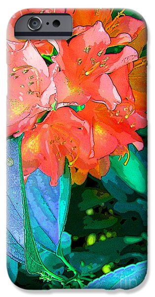 Abstract Digital Art iPhone Cases - Azealia iPhone Case by Laura Sapko