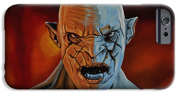 Earth Paintings iPhone Cases - Azog The Orc iPhone Case by Paul Meijering