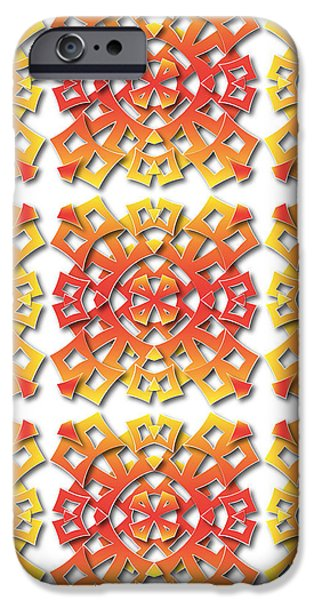 Tribal Tapestries - Textiles iPhone Cases - Aztec pattern iPhone Case by Jozef Jankola