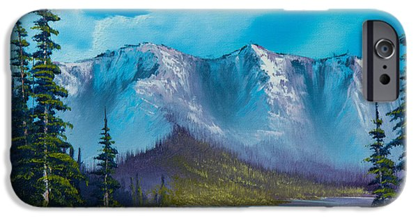 Recently Sold -  - Bob Ross Paintings iPhone Cases - Azure Ridge iPhone Case by C Steele