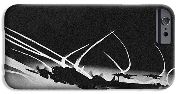 Ww Ii iPhone Cases - B 17 Contrails iPhone Case by Unknown