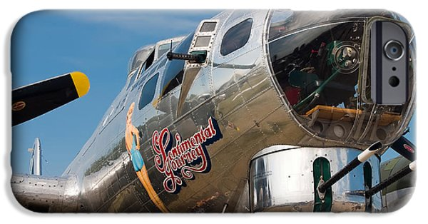 Flight iPhone Cases - B-17 Flying Fortress iPhone Case by Adam Romanowicz