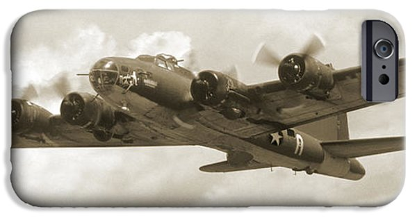 Warbird iPhone Cases - B-17 Flying Fortress iPhone Case by Mike McGlothlen