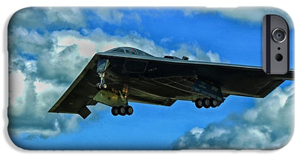Technology iPhone Cases - B-2 Spirit Coming in For a Landing iPhone Case by Mountain Dreams