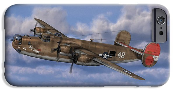 Bombing iPhone Cases - B-24 Liberator iPhone Case by Dale Jackson