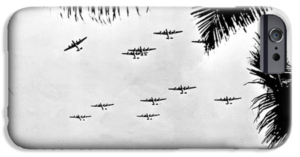 Ww Ii iPhone Cases - B 24 Squadron iPhone Case by Unknown