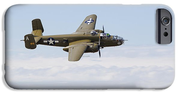 North American B-25j Mitchell iPhone Cases - B-25J Mitchell iPhone Case by Ross Murphy