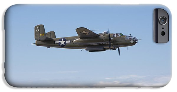 North American B-25j Mitchell iPhone Cases - B-25j iPhone Case by Ross Murphy