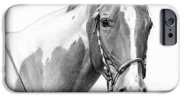 Michelle iPhone Cases - B and W study iPhone Case by JQ Licensing
