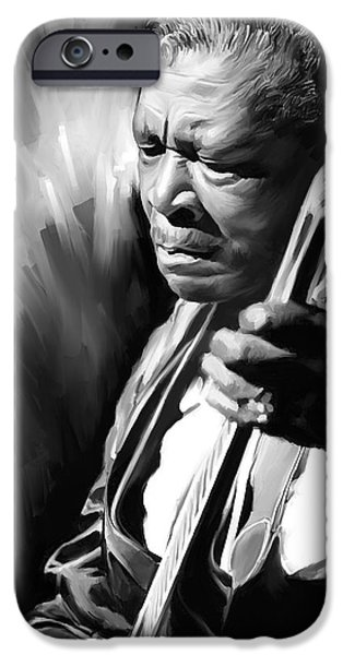 B.b.king iPhone Cases - B B King Artwork iPhone Case by Sheraz A