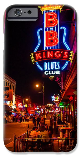 B.b.king iPhone Cases - B. B. Kings Place iPhone Case by Tim Johnson