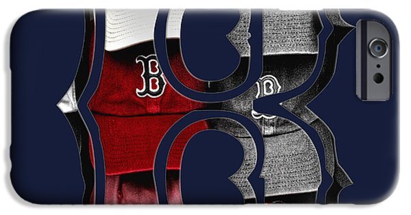 Boston Red Sox iPhone Cases - B for BoSox - Boston Red Sox iPhone Case by Joann Vitali