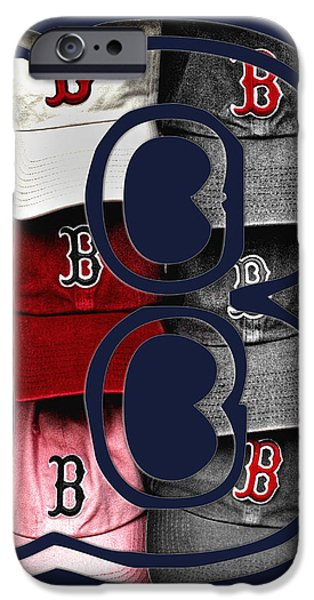 B for BoSox - Boston Red Sox iPhone Case by Joann Vitali