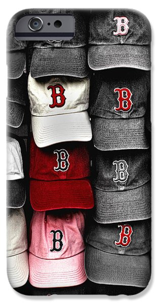 Boston Red Sox iPhone Cases - B for BoSox iPhone Case by Joann Vitali
