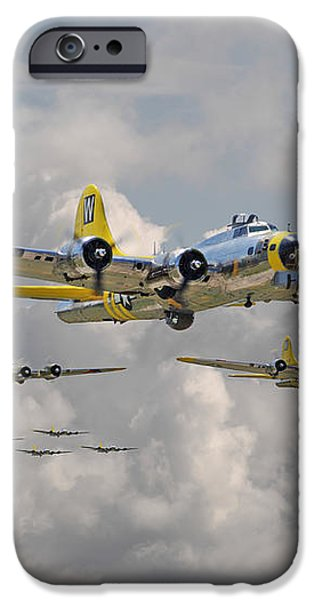 B17 486th Bomb Group iPhone Case by Pat Speirs