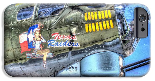 Weapon iPhone Cases - B17 Texas Raiders v1 iPhone Case by John Straton
