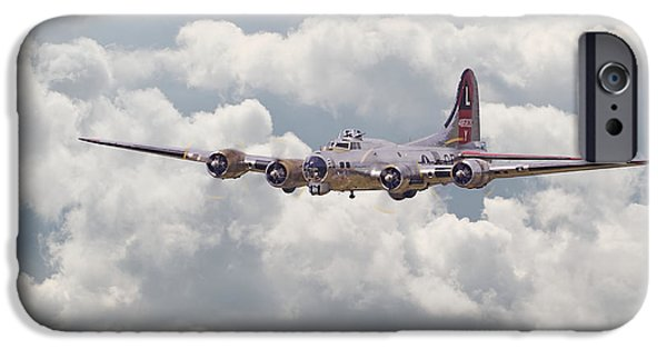 Classic Aircraft iPhone Cases - B17- Yankee Lady iPhone Case by Pat Speirs