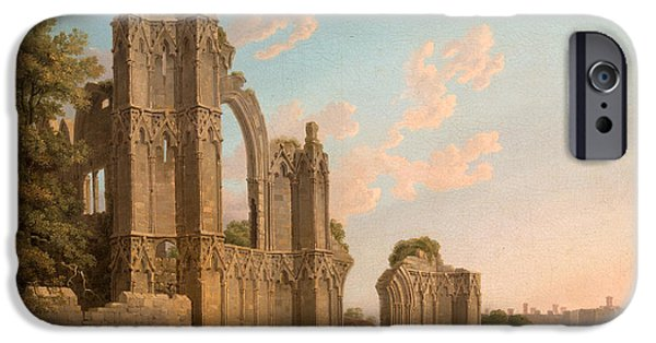 Ruin iPhone Cases - St Marys Abbey iPhone Case by Michael Angelo Rooker