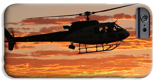 Police Art iPhone Cases - B3 Sunset iPhone Case by Paul Job
