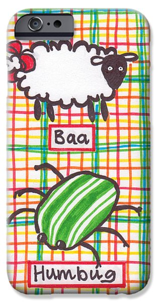 Baa Humbug iPhone Case by Julie  Hutchinson