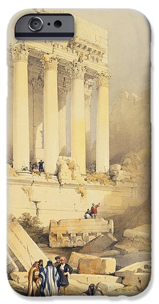 Remnant iPhone Cases - Baalbec iPhone Case by David Roberts