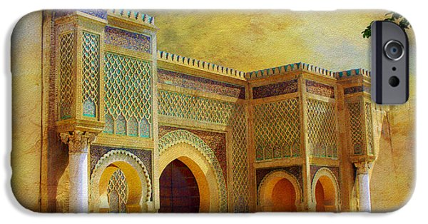 Historic Site Paintings iPhone Cases - Bab Mansur iPhone Case by Catf