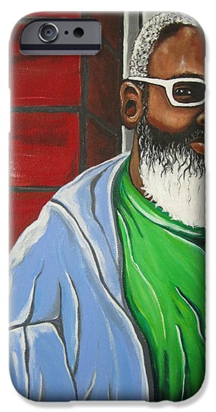Recently Sold -  - Gray Hair iPhone Cases - Baba iPhone Case by Adrienne La Faye