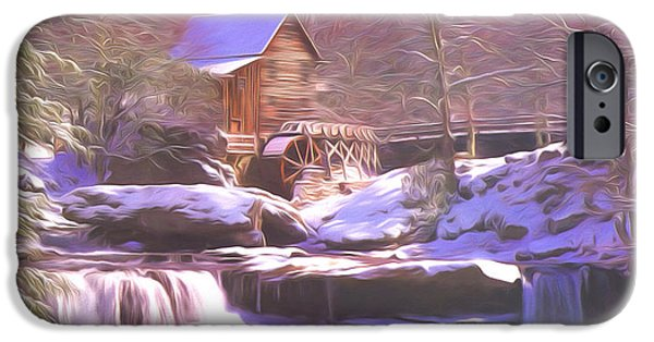 Grist Mill iPhone Cases - Babcock Mill iPhone Case by Steve Bailey