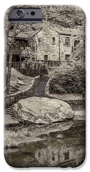 Grist Mill iPhone Cases - Babcock sepia  iPhone Case by Steve Harrington