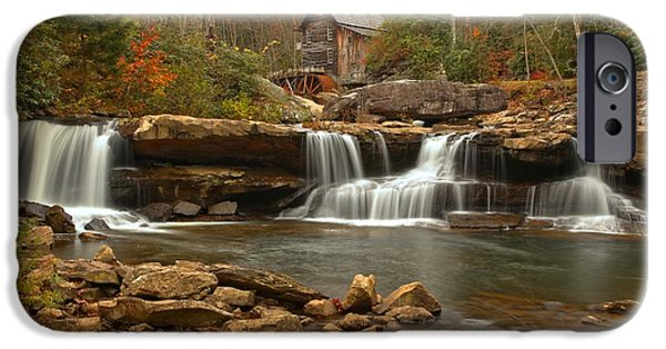 Grist Mill iPhone Cases - Babcock State Park Landscape iPhone Case by Adam Jewell
