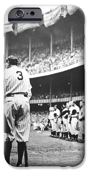 Babe Ruth Poster iPhone Case by Gianfranco Weiss