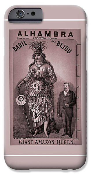 First Lady iPhone Cases - Babil And Bijou - Giant Amazon Queen iPhone Case by Maciej Froncisz