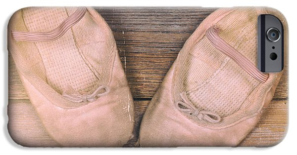 Ballet Dancers Photographs iPhone Cases - Baby ballet shoes instant photo iPhone Case by Jane Rix
