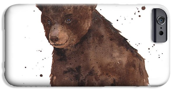 Bear Cub iPhone Cases - Baby Bear iPhone Case by Alison Fennell