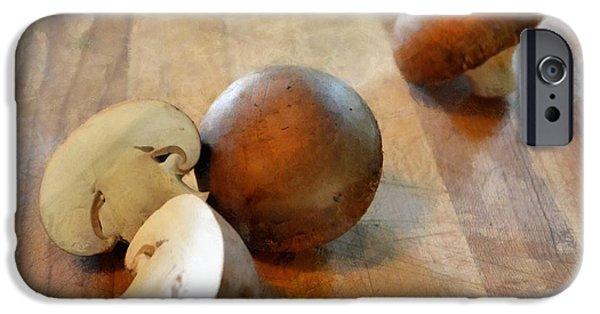 Mushroom Digital Art iPhone Cases - Baby Bellas iPhone Case by Michelle Calkins