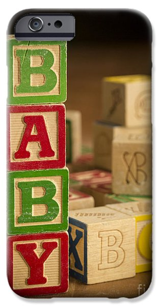 Spell iPhone Cases - Baby Blocks iPhone Case by Edward Fielding
