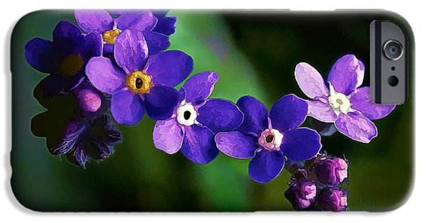 Close Up Floral iPhone Cases - Baby Blues iPhone Case by Bill Caldwell -        ABeautifulSky Photography