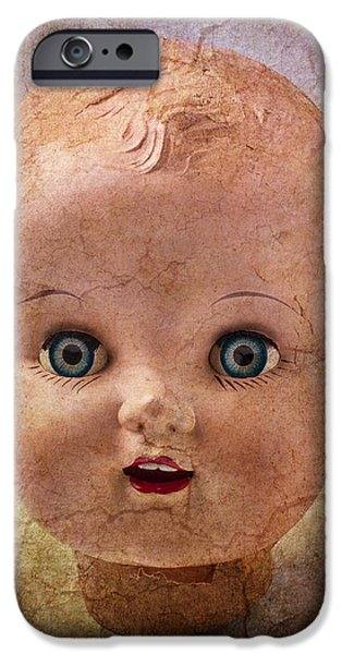 Chip iPhone Cases - Baby Doll Face iPhone Case by Garry Gay