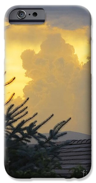 Unset iPhone Cases - Baby Elephant Cloud iPhone Case by Phyllis Kaltenbach