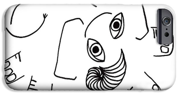 Joyful Drawings iPhone Cases - Baby Elephant iPhone Case by Sarah Loft