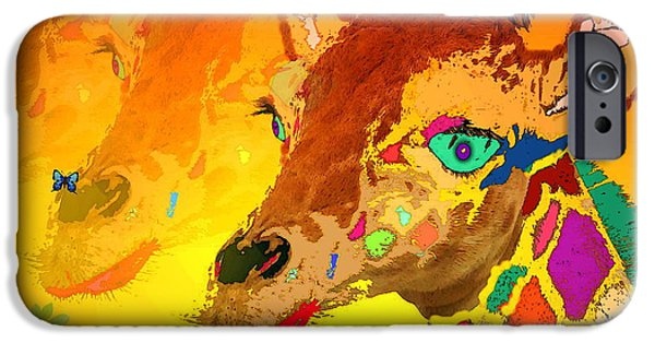 Artography iPhone Cases - Baby Giraffe 2A iPhone Case by Joyce Dickens