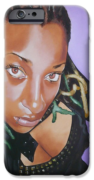 Raw Sienna iPhone Cases - Baby Girl iPhone Case by Belle Massey
