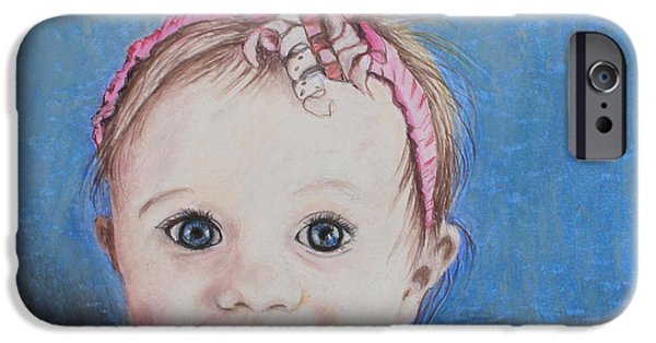 Small Pastels iPhone Cases - Baby Girl iPhone Case by Jeanne Fischer