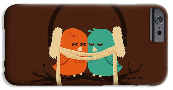 Couple iPhone Cases - Baby it is cold outside iPhone Case by Budi Kwan