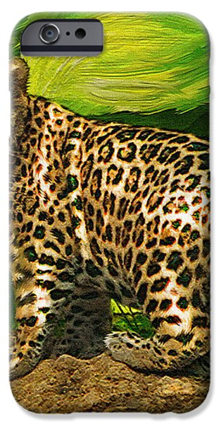 baby jaguar iPhone Case by Jane Schnetlage