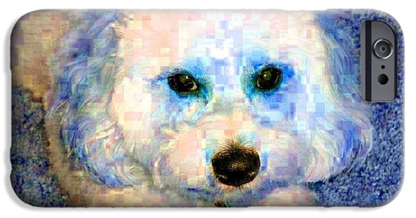 Puppy Digital Art iPhone Cases - Baby iPhone Case by Kathy Budd
