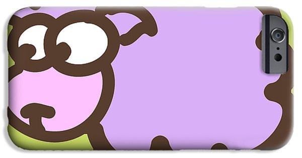 Nursery Art iPhone Cases - Baby Lamb Nursery Print iPhone Case by Nursery Art
